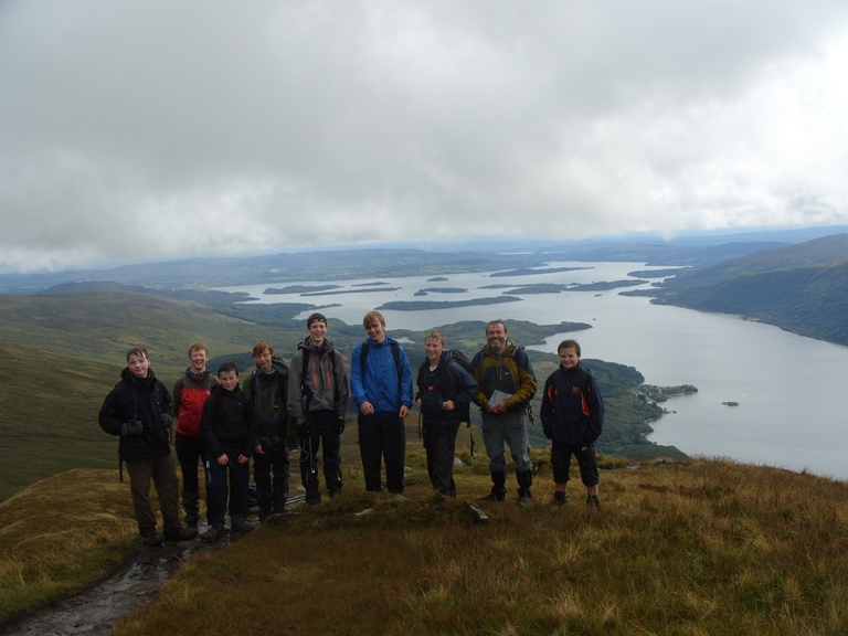Scouts on Ben Lomond