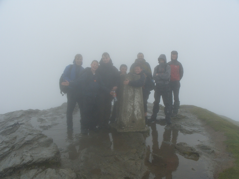 Scouts at the top of Ben Lomond