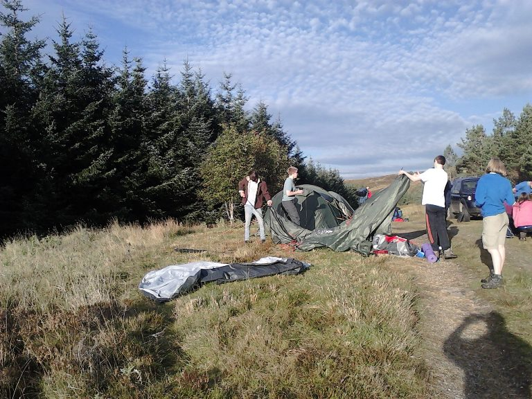Explorers on a Duke of Edinburgh Hike