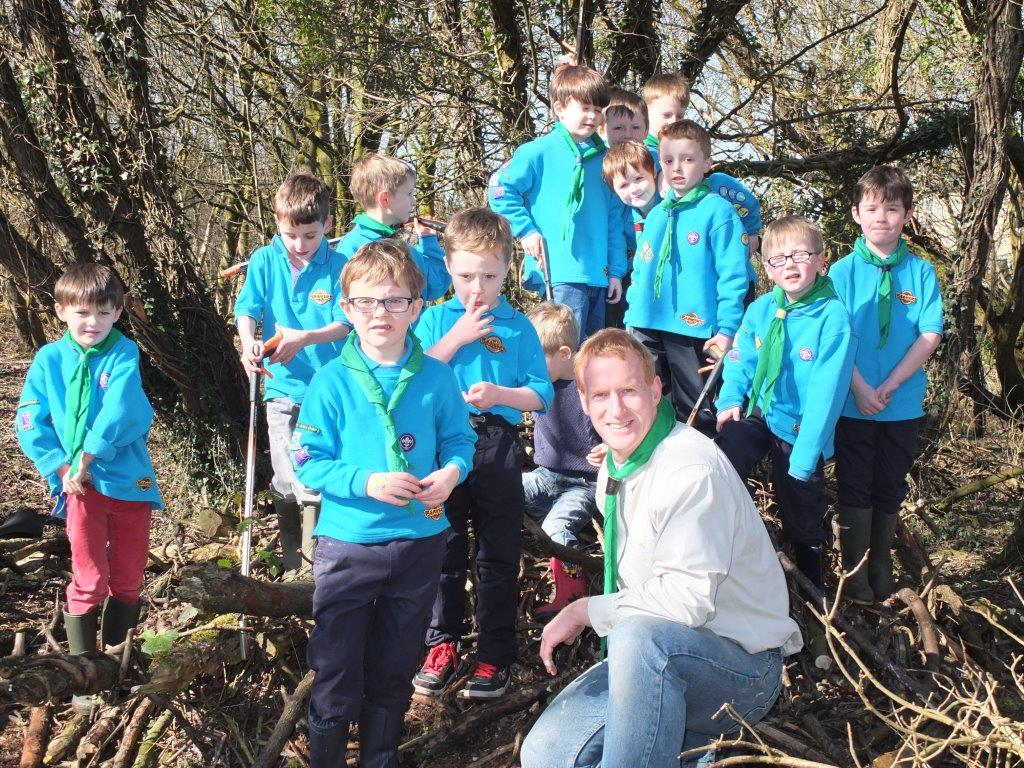 Beavers helping at Lenzie Moss