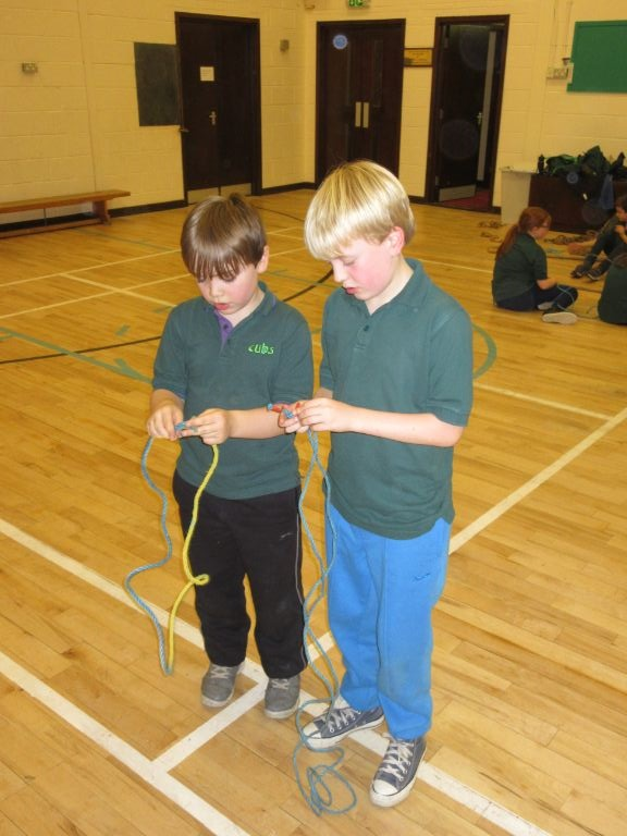 Cubs working on there rope skills