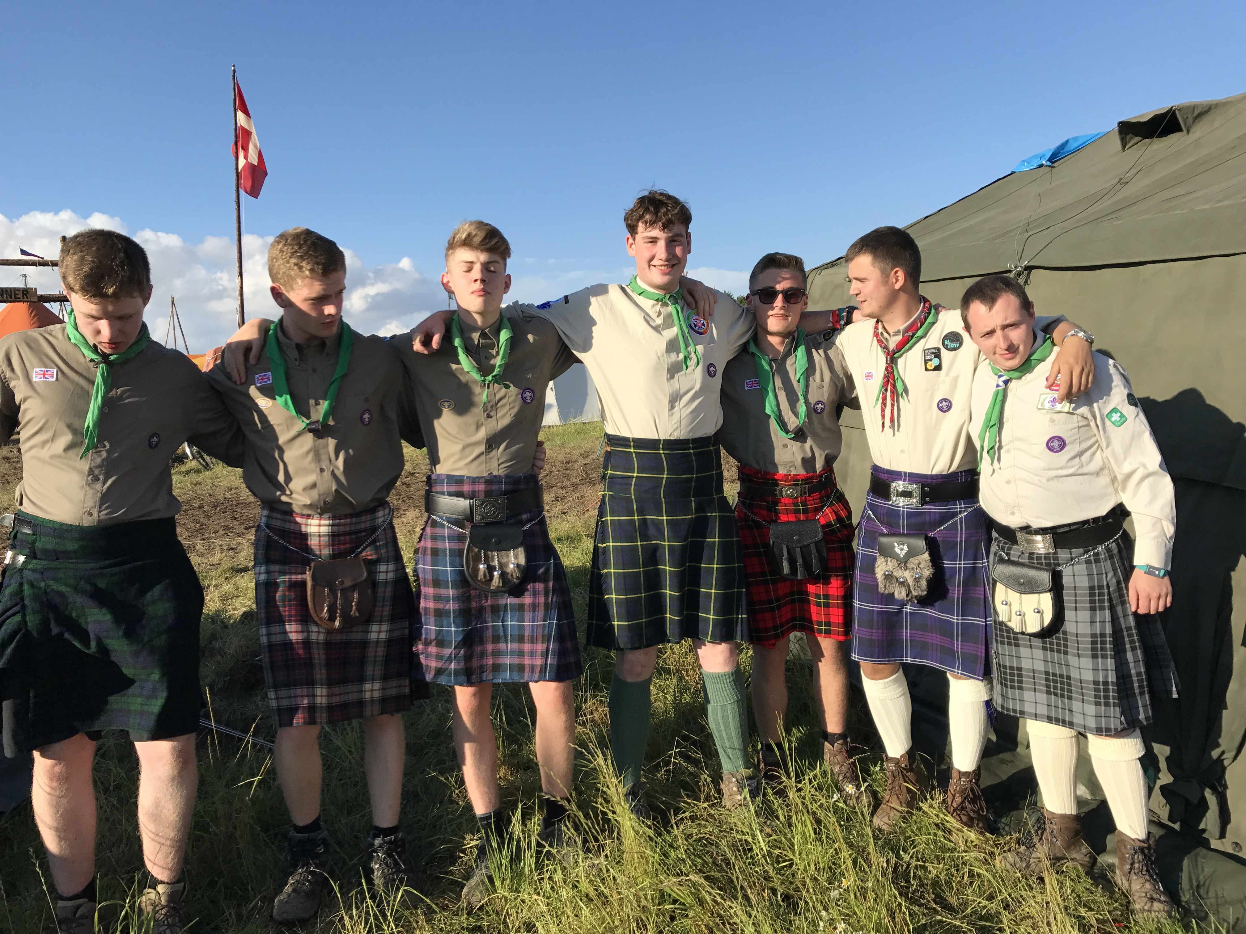 Explorers At The International Danish Jamboree