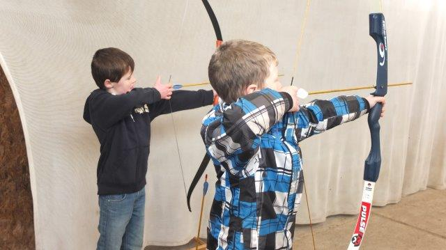 Cubs at Archery at Camp