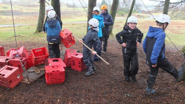 Cubs Crate Climbing at Camp